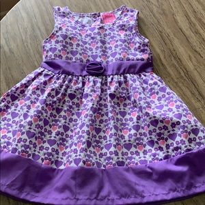 Girls purple and white dress 24 months